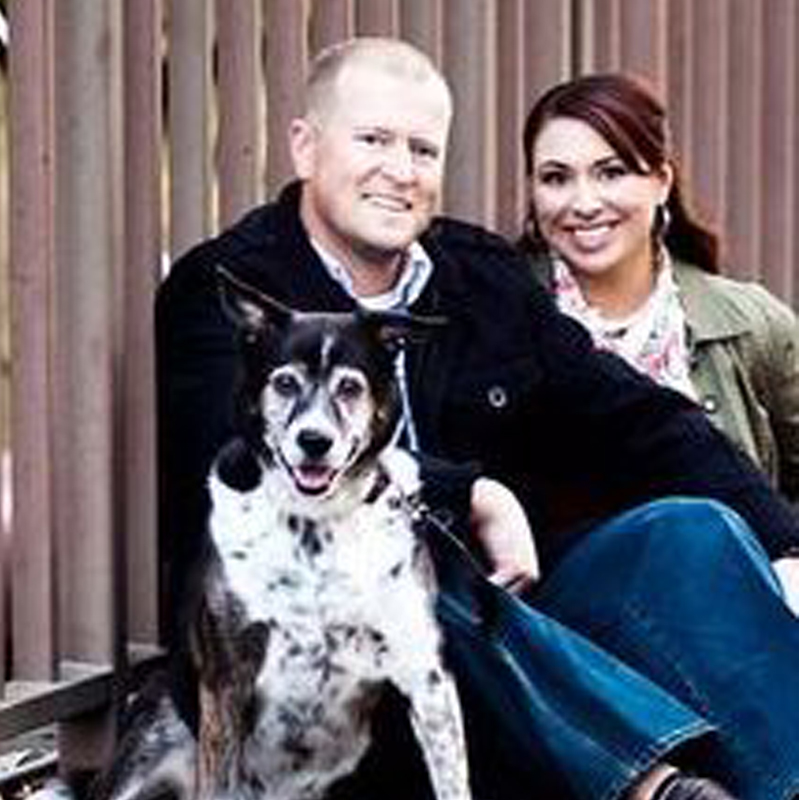 Brooke and Husband and Dog 800x800